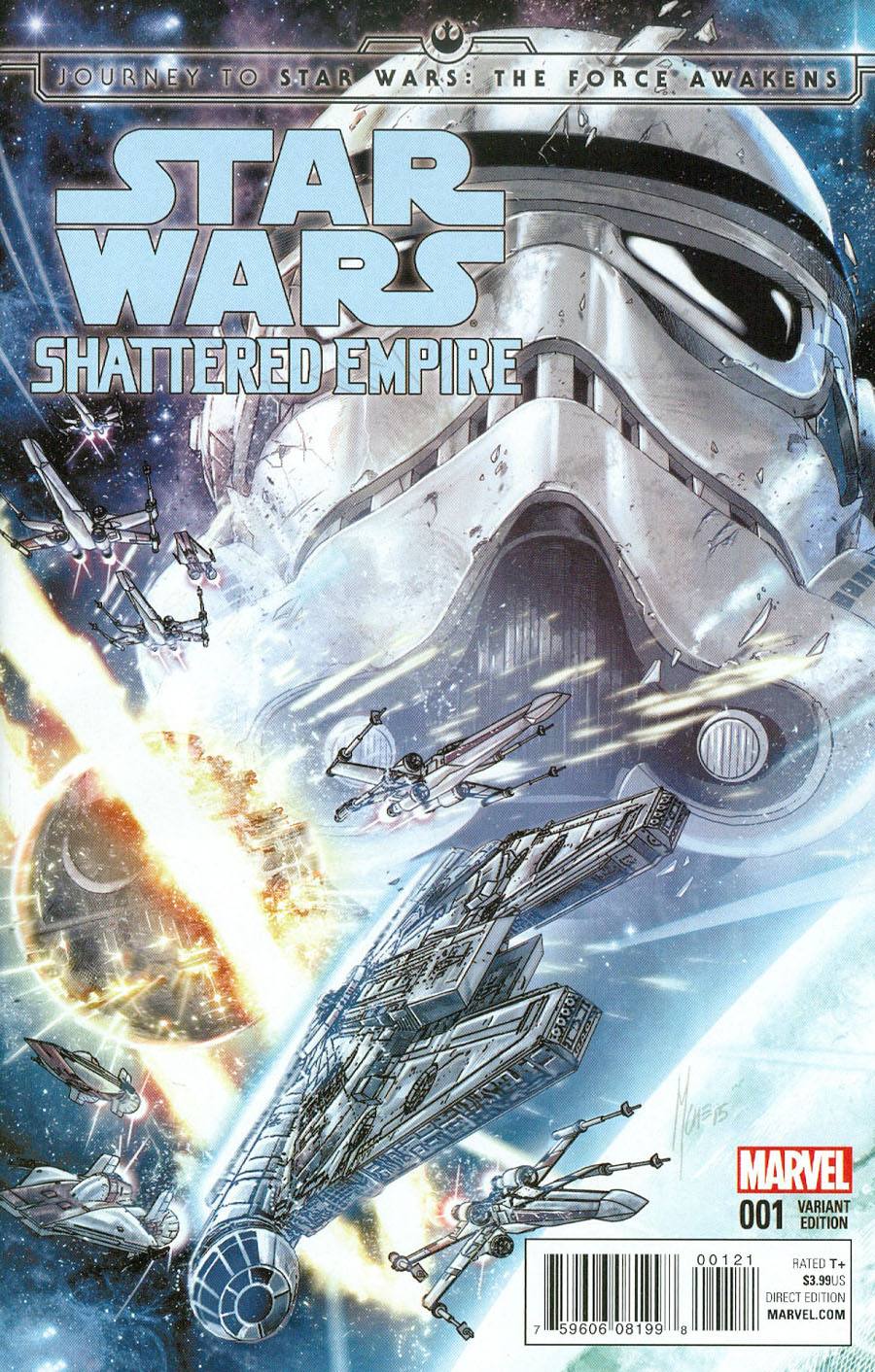 Journey To Star Wars Force Awakens Shattered Empire #1 Cover D Incentive Marco Checchetto Variant Cover
