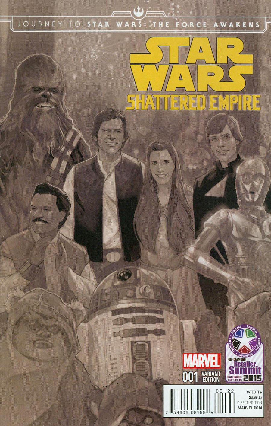 Journey To Star Wars Force Awakens Shattered Empire #1 Cover F Diamond Retailer Summit 2015 Variant Cover