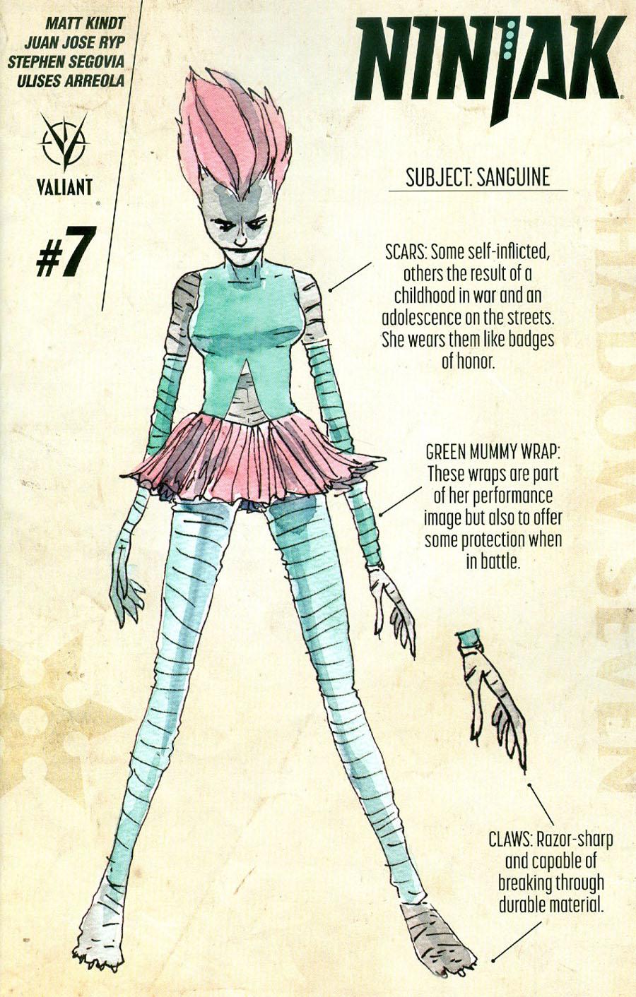 Ninjak Vol 3 #7 Cover D Incentive Matt Kindt Character Design Variant Cover