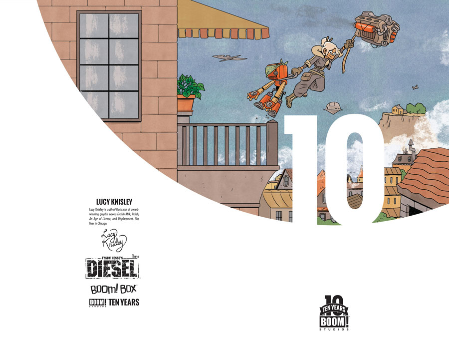 Tyson Hesses Diesel #1 Cover B Incentive Lucy Knisley BOOM 10 Years Anniversary Virgin Variant Cover