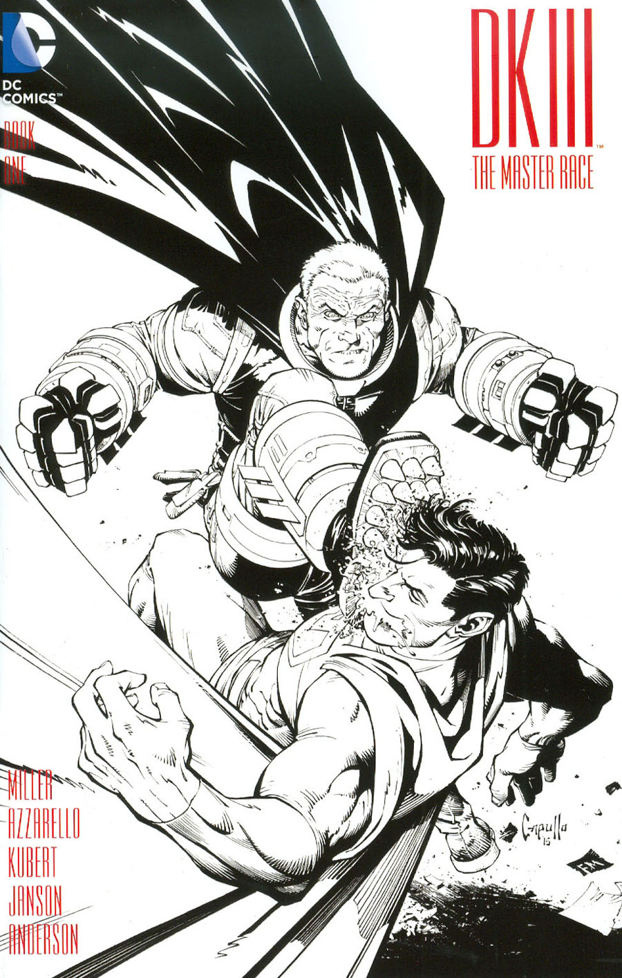 Dark Knight III The Master Race #1 Cover C Midtown Exclusive Greg Capullo Sketch Variant Cover