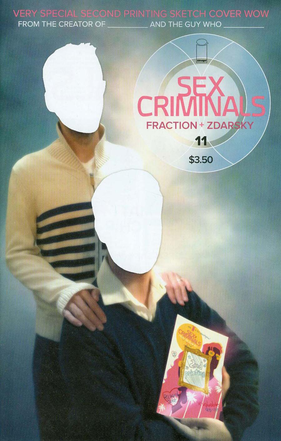 Sex Criminals #11 Cover E 2nd Ptg Chip Zdarsky Sketch Cover