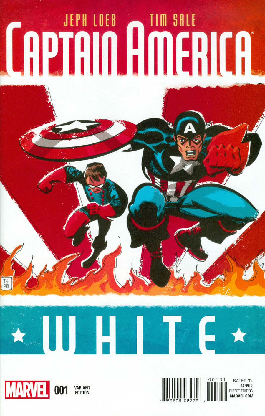 Captain America White #1 Cover C Incentive Tim Sale Variant Cover