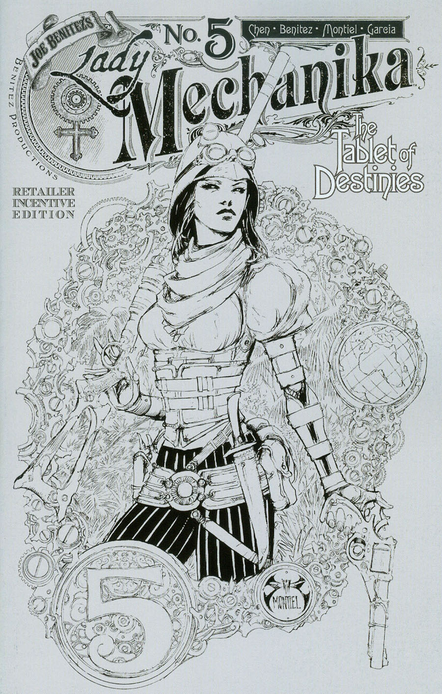 Lady Mechanika Tablet Of Destinies #5 Cover C Incentive Joe Benitez Variant Cover