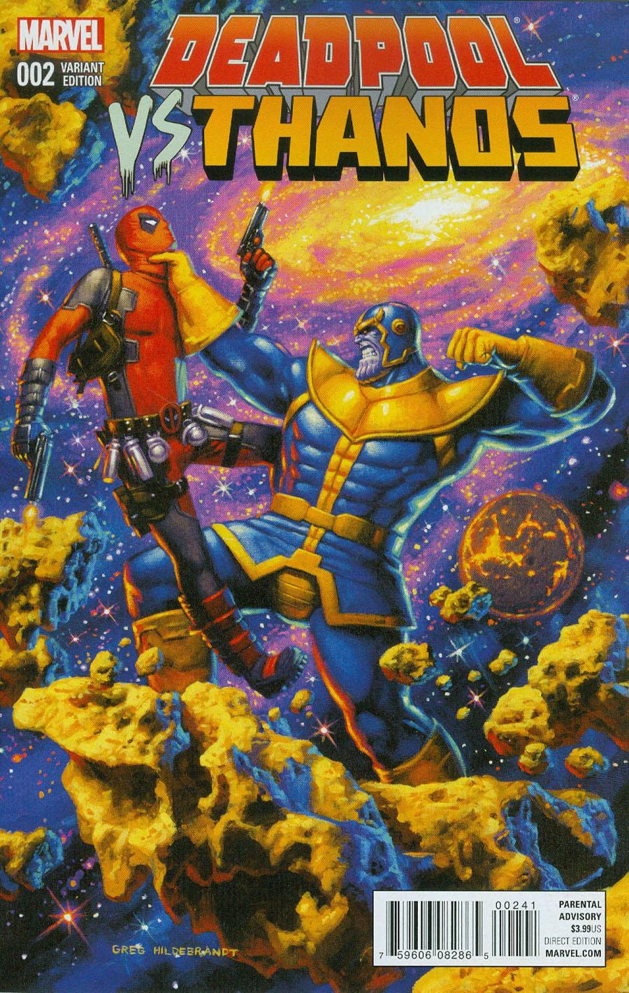 Deadpool vs Thanos #2 Cover C Variant Greg Hildebrandt Cover