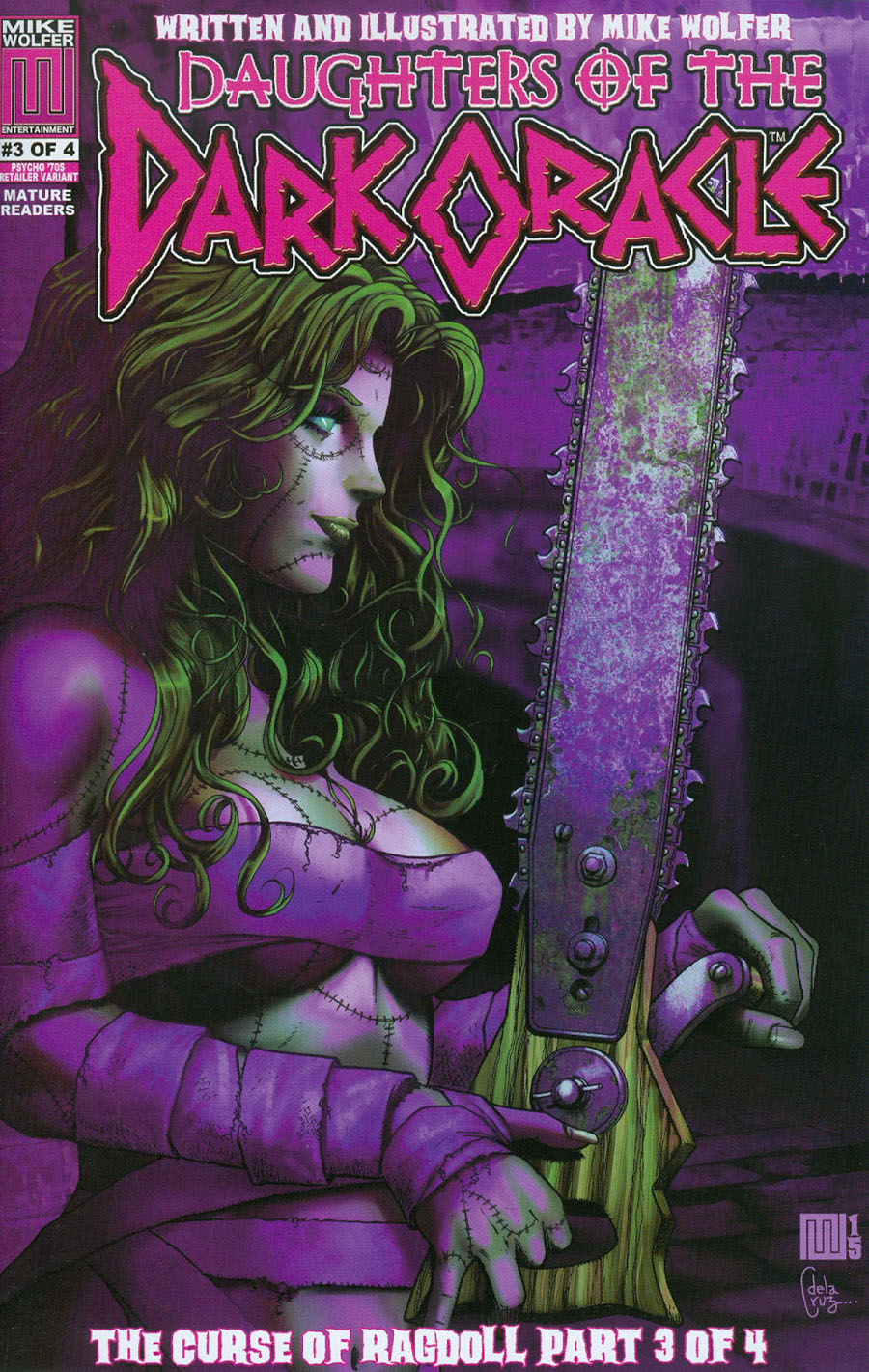 Daughters Of The Dark Oracle Curse Of Ragdoll #3 Cover B Incentive Psycho 70s Variant Cover