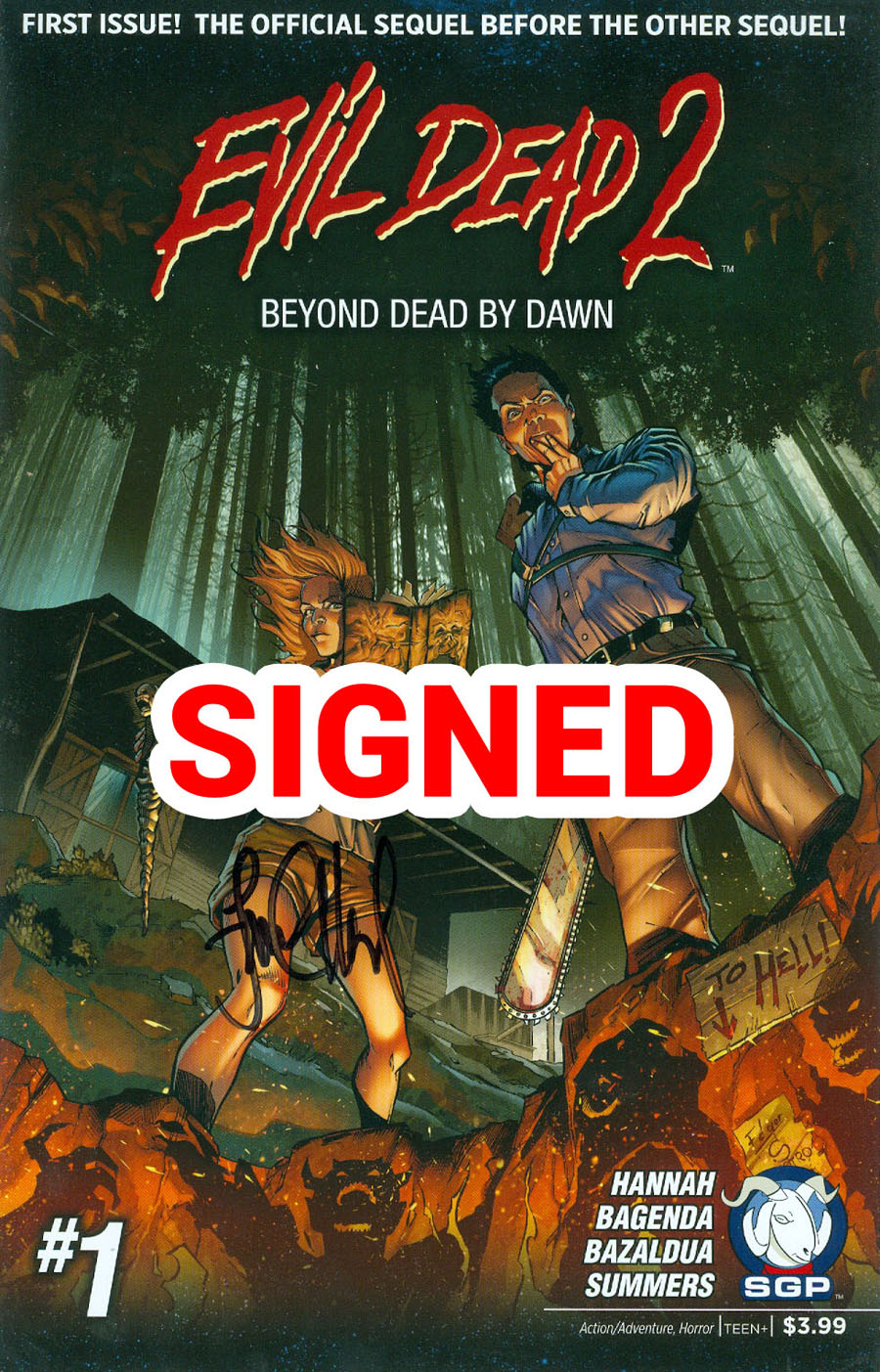 Evil Dead 2 Beyond Dead By Dawn #1 Cover C Incentive Signed By Frank Hannah