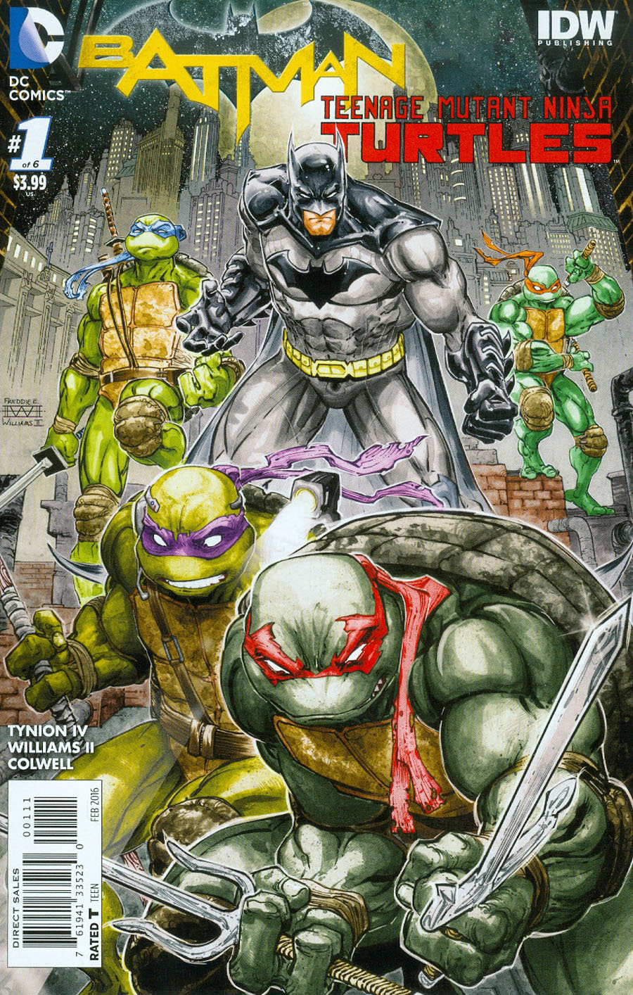 Batman Teenage Mutant Ninja Turtles #1 Cover A 1st Ptg Regular Freddie E Williams II Cover