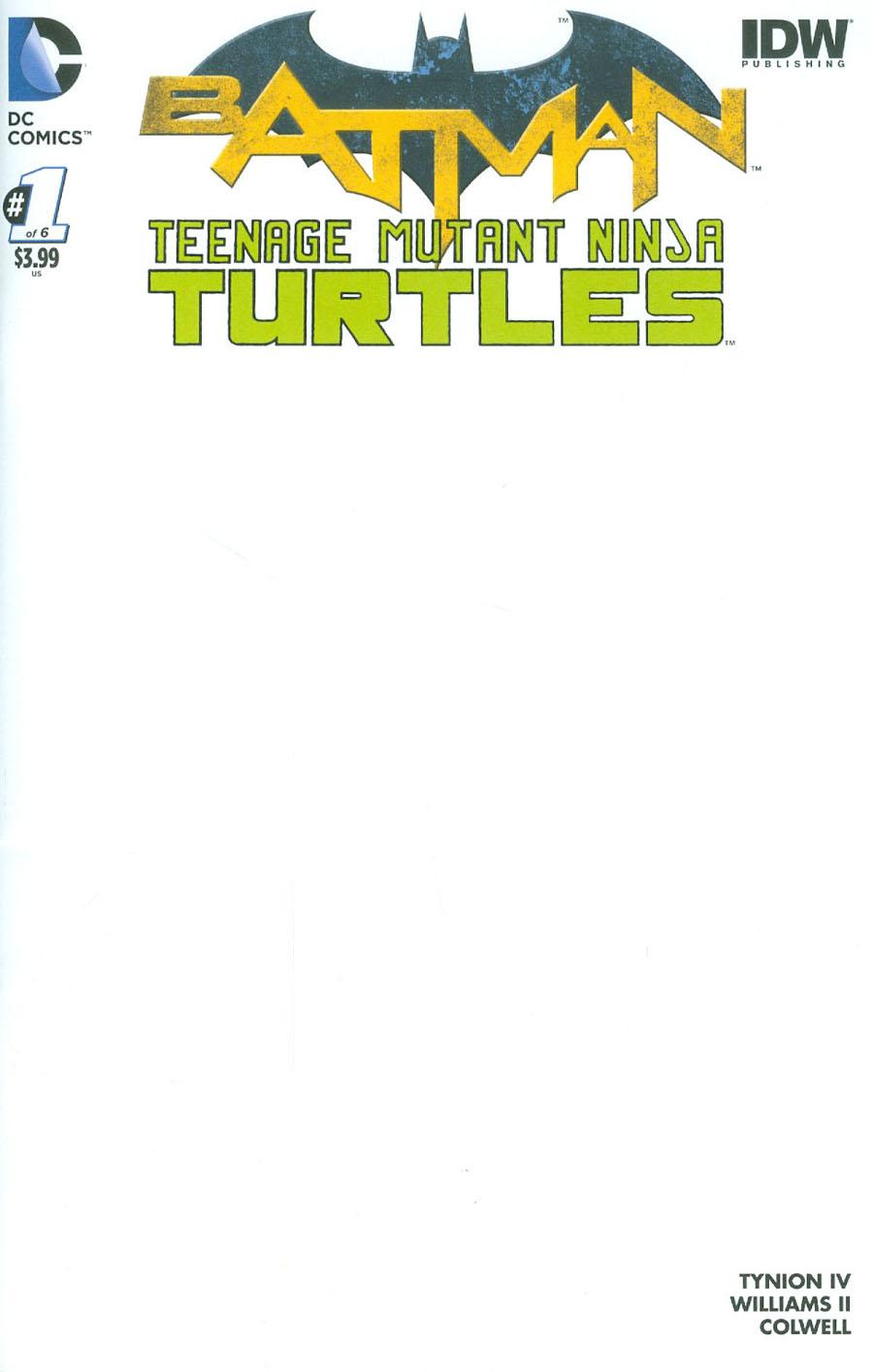 Batman Teenage Mutant Ninja Turtles #1 Cover D Variant Blank Cover