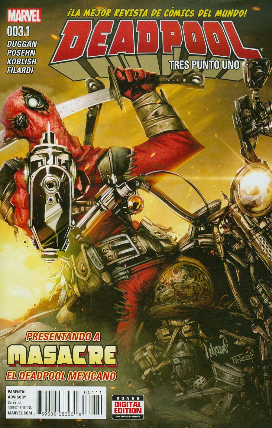 Deadpool Vol 5 #3.1 Tres Punto Uno