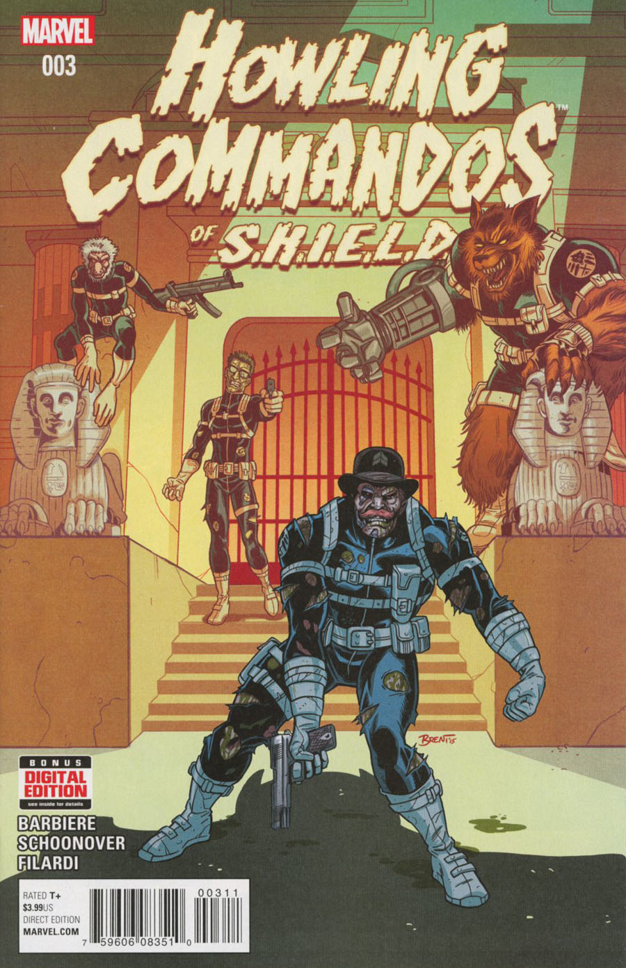 Howling Commandos Of S.H.I.E.L.D. #3 Cover A Regular Brent Schoonover Cover