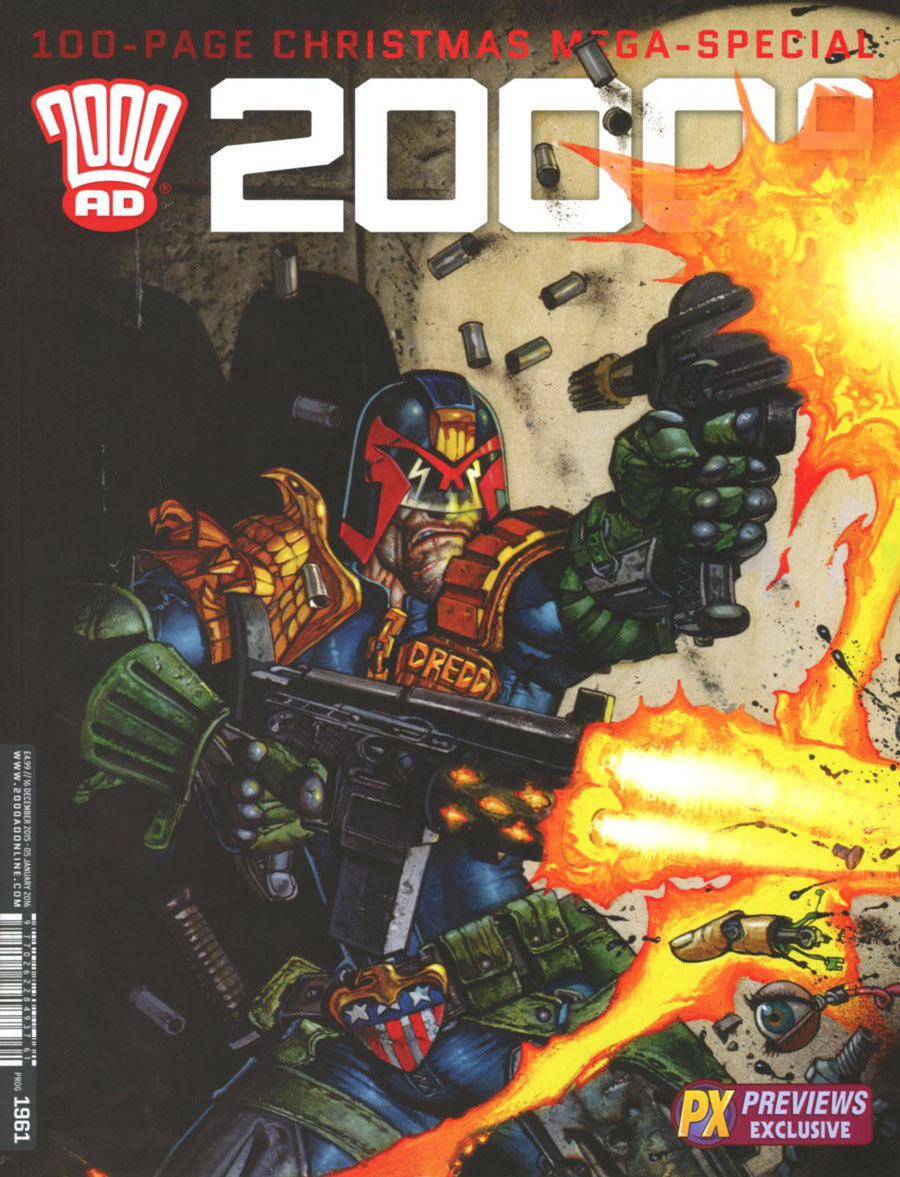2000 AD #1961 X-Mas 2015 Special Previews Exclusive Simon Bisley Variant Cover