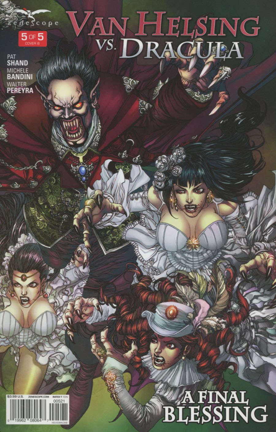 Grimm Fairy Tales Presents Van Helsing vs Dracula #5 Cover B Harvey Tolibao Connecting 2