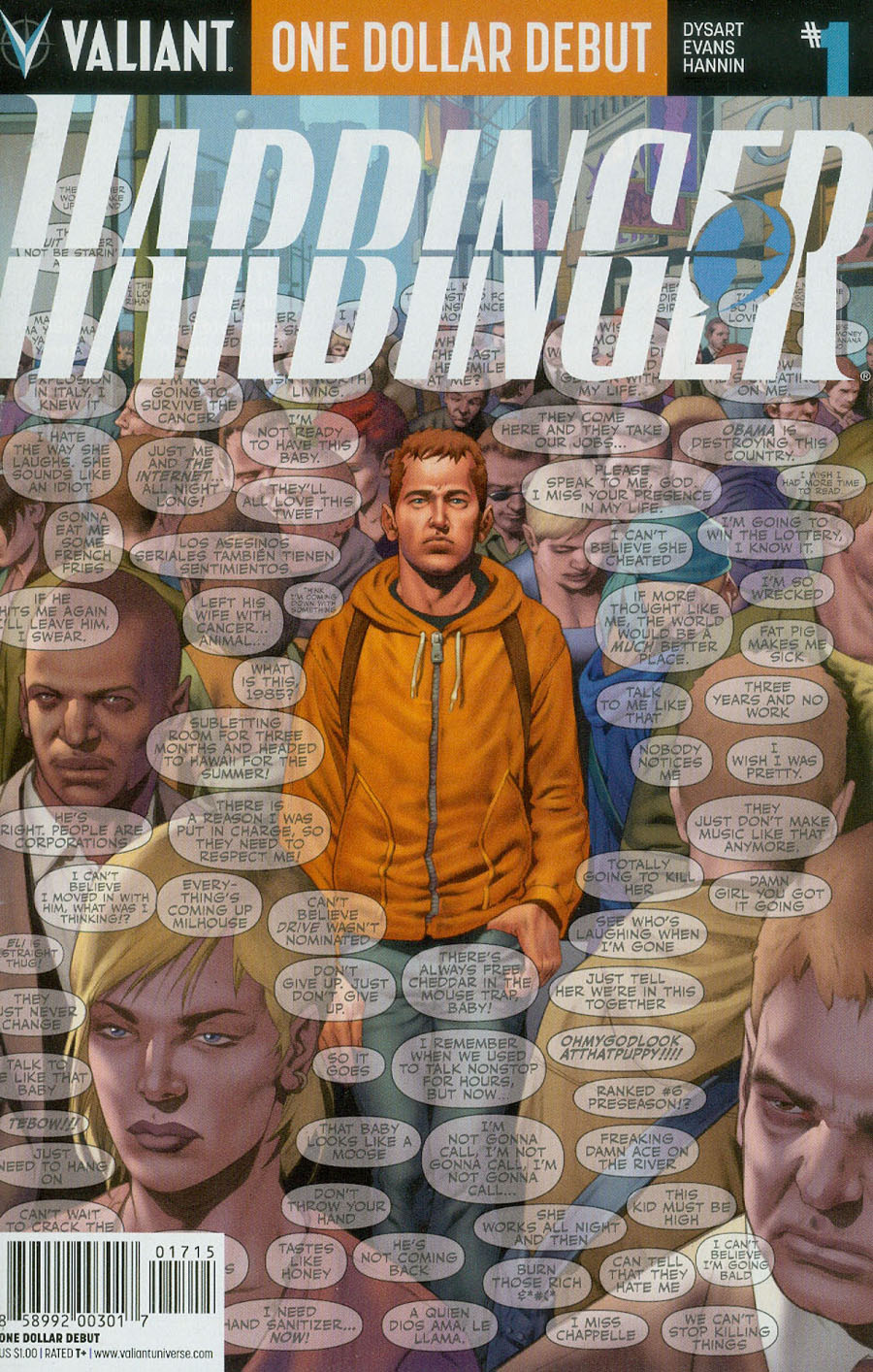Harbinger Vol 2 #1 Cover H One Dollar Debut Edition Newer Printing