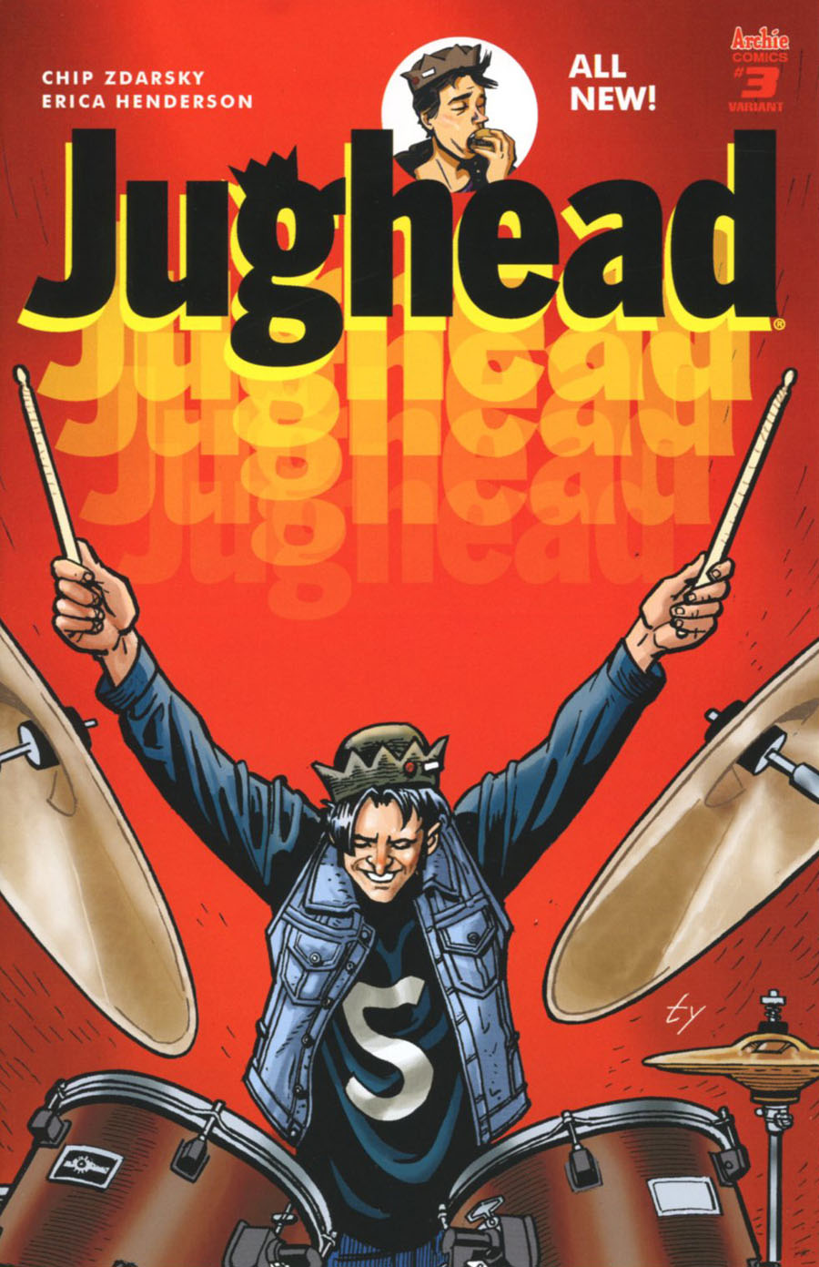 Jughead Vol 3 #3 Cover C Variant Ty Templeton Cover