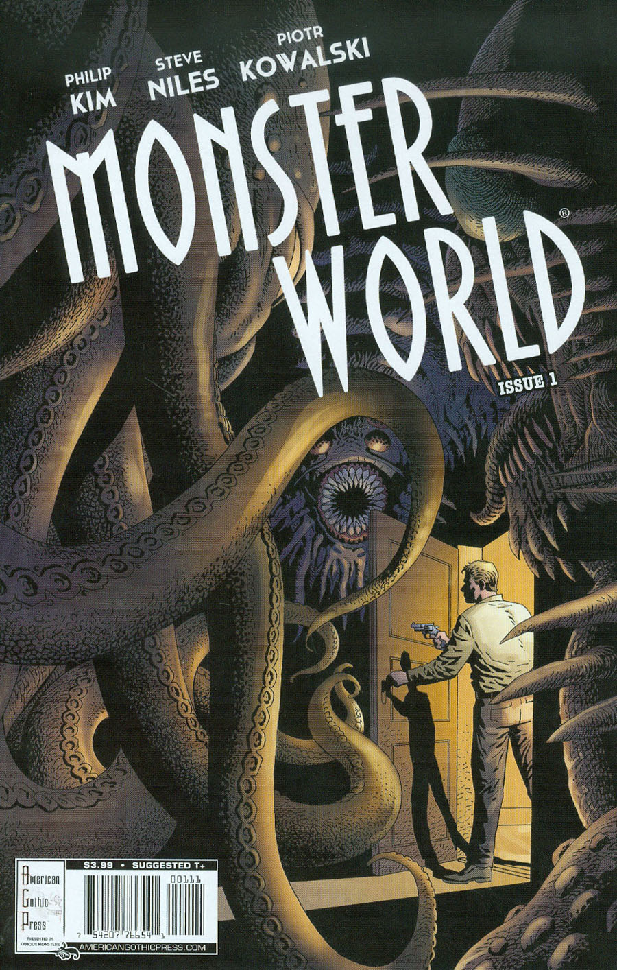 Famous Monsters Presents Monster World #1 Cover A Regular Piotr Kowalski Cover