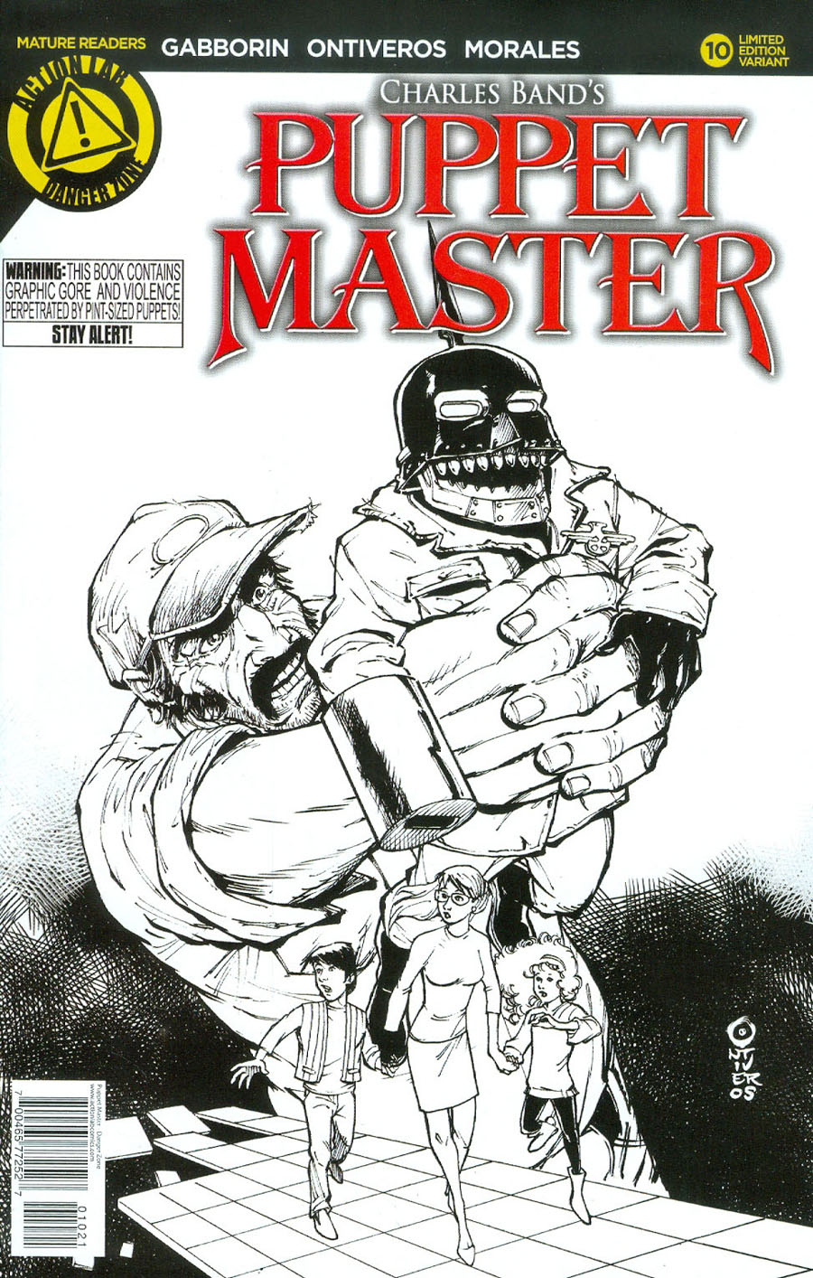 Puppet Master #10 Cover B Variant Antonio Ontiveros Sketch Cover