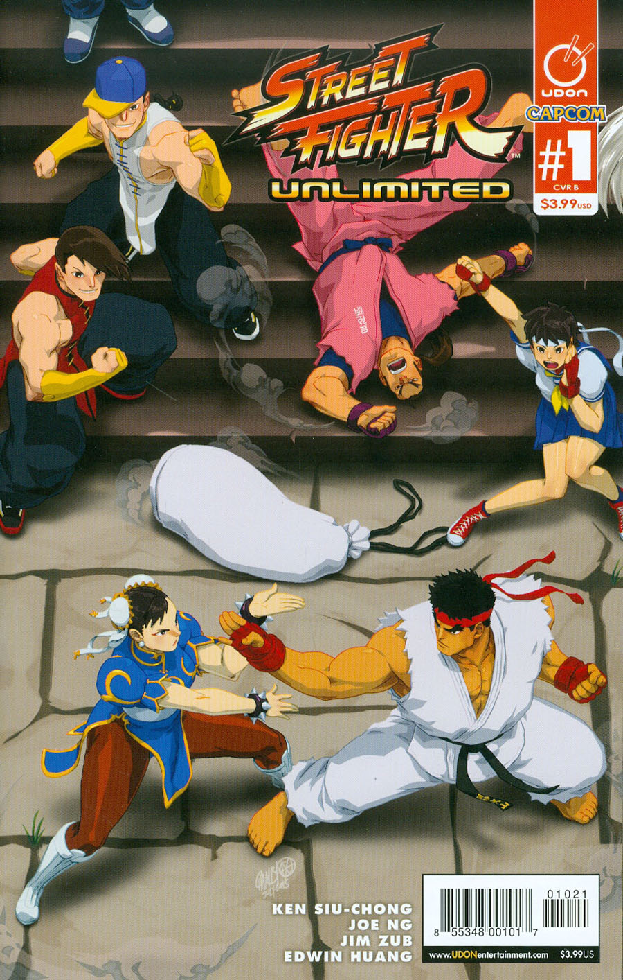 Street Fighter Unlimited #1 Cover B Variant Jeffrey Chamba Cruz Ultra Jam Puzzle Cover