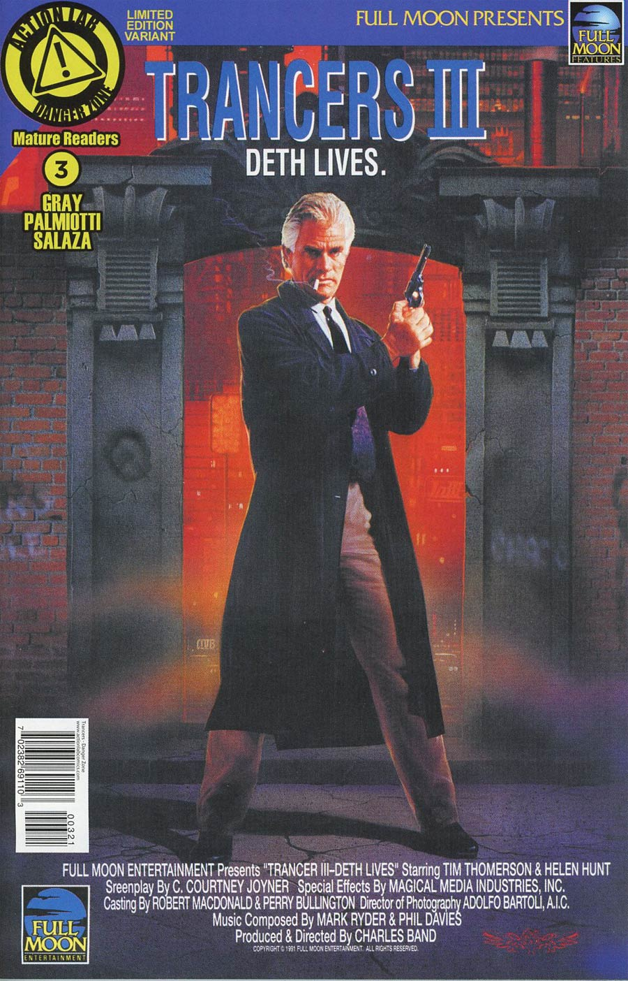 Trancers #3 Cover B Variant Movie Poster Cover