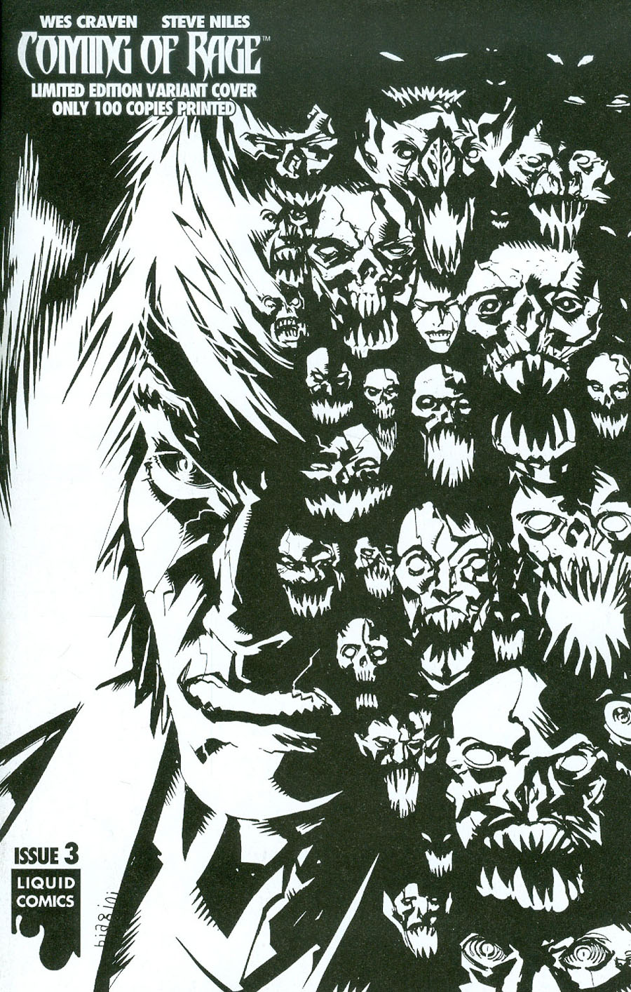 Wes Cravens Coming Of Rage #3 Cover C Variant Francesco Biagini Ultra-Limited Sketch A Cover