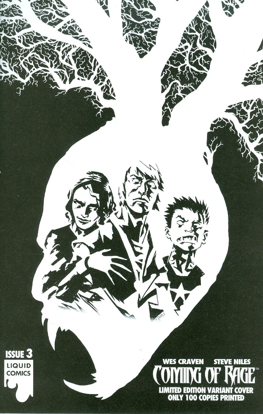 Wes Cravens Coming Of Rage #3 Cover D Variant Francesco Biagini Ultra-Limited Sketch B Cover
