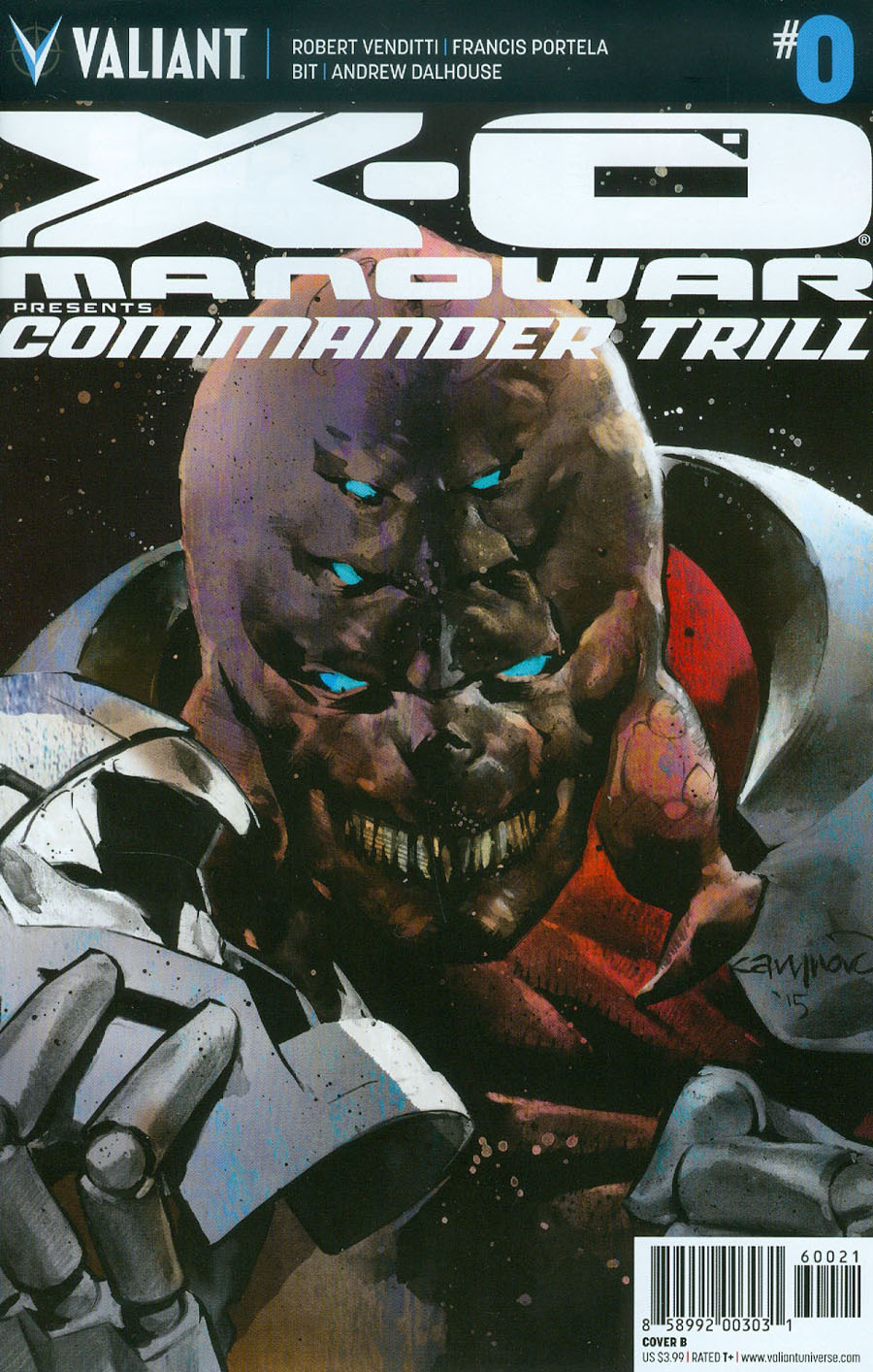 X-O Manowar Presents Commander Trill #0 Cover B Variant Cary Nord Cover