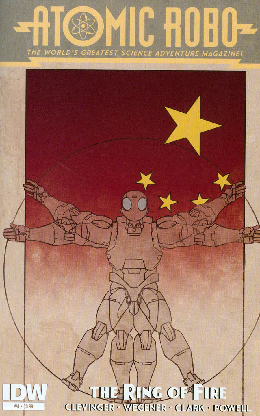 Atomic Robo And The Ring Of Fire #4 Cover A Regular Scott Wegener Cover