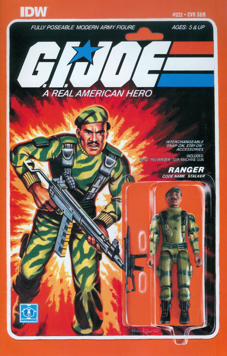 GI Joe A Real American Hero #222 Cover B Variant Adam Riches Subscription Cover