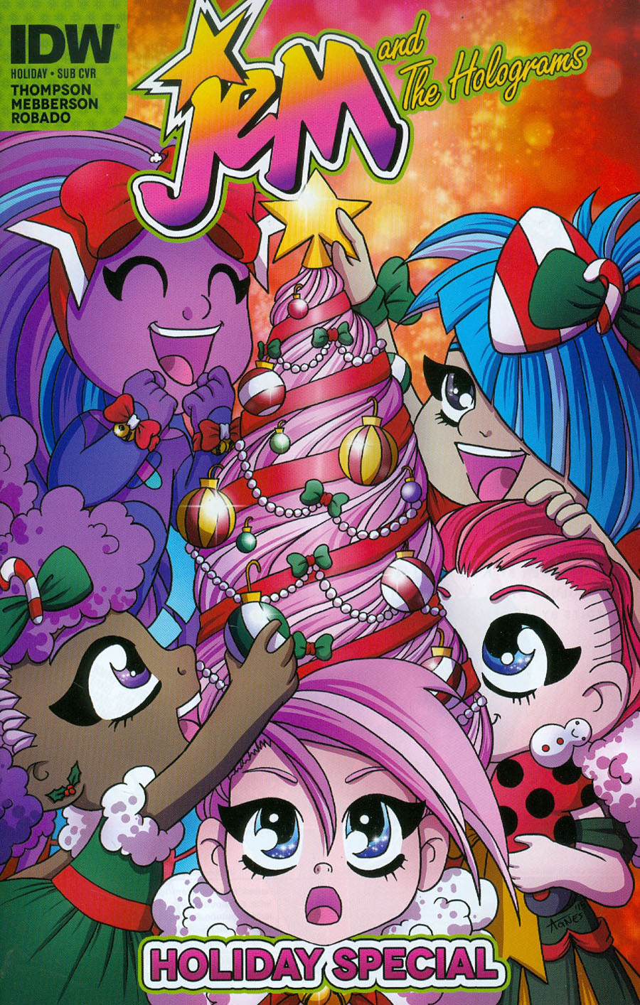Jem And The Holograms Holiday Special Cover B Variant Agnes Garbowska Subscription Cover