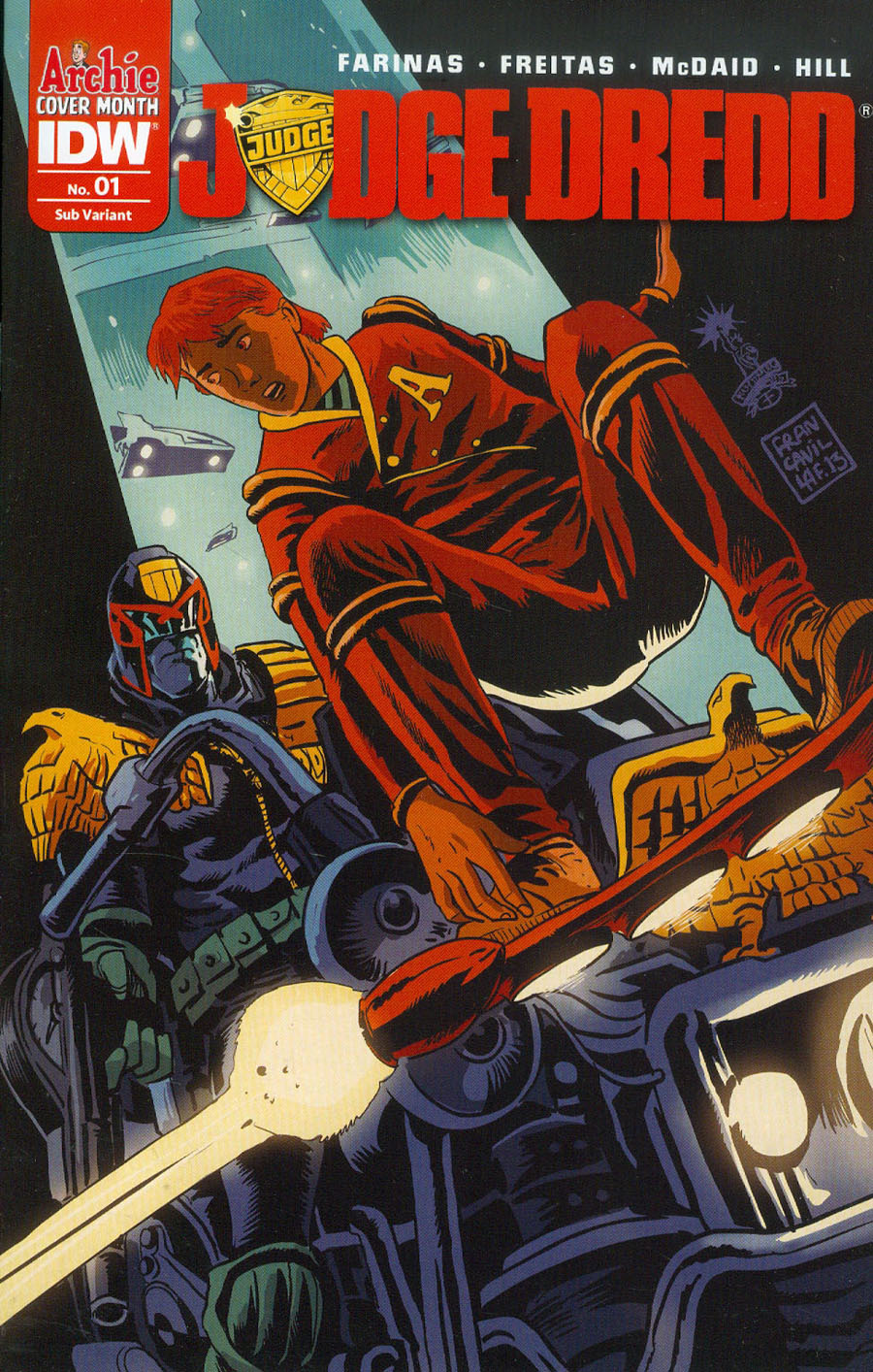 Judge Dredd Vol 5 #1 Cover B Variant Francesco Francavilla Archie 75th Anniversary Subscription Cover