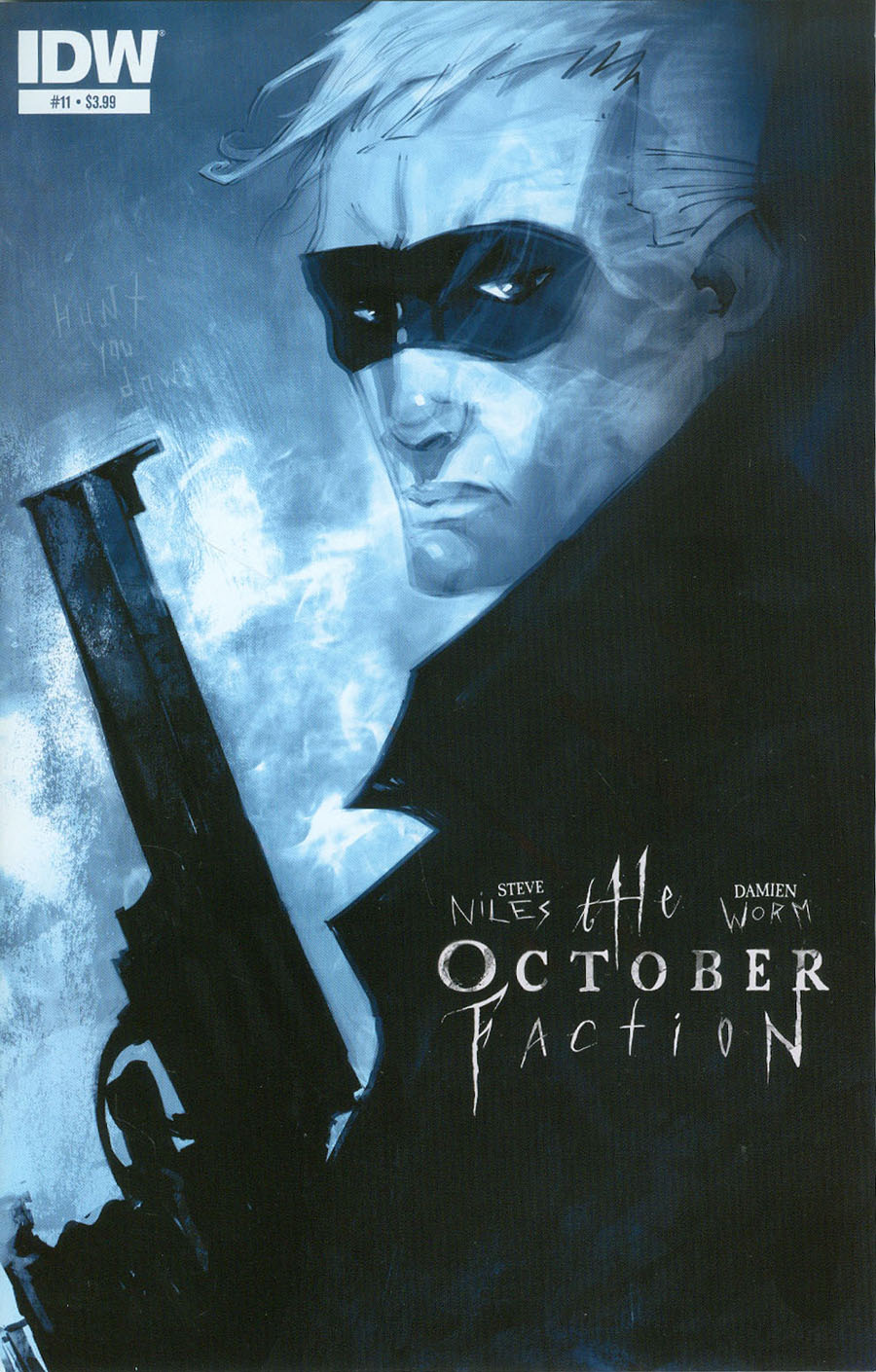 October Faction #11 Cover A Regular Damien Worm Cover
