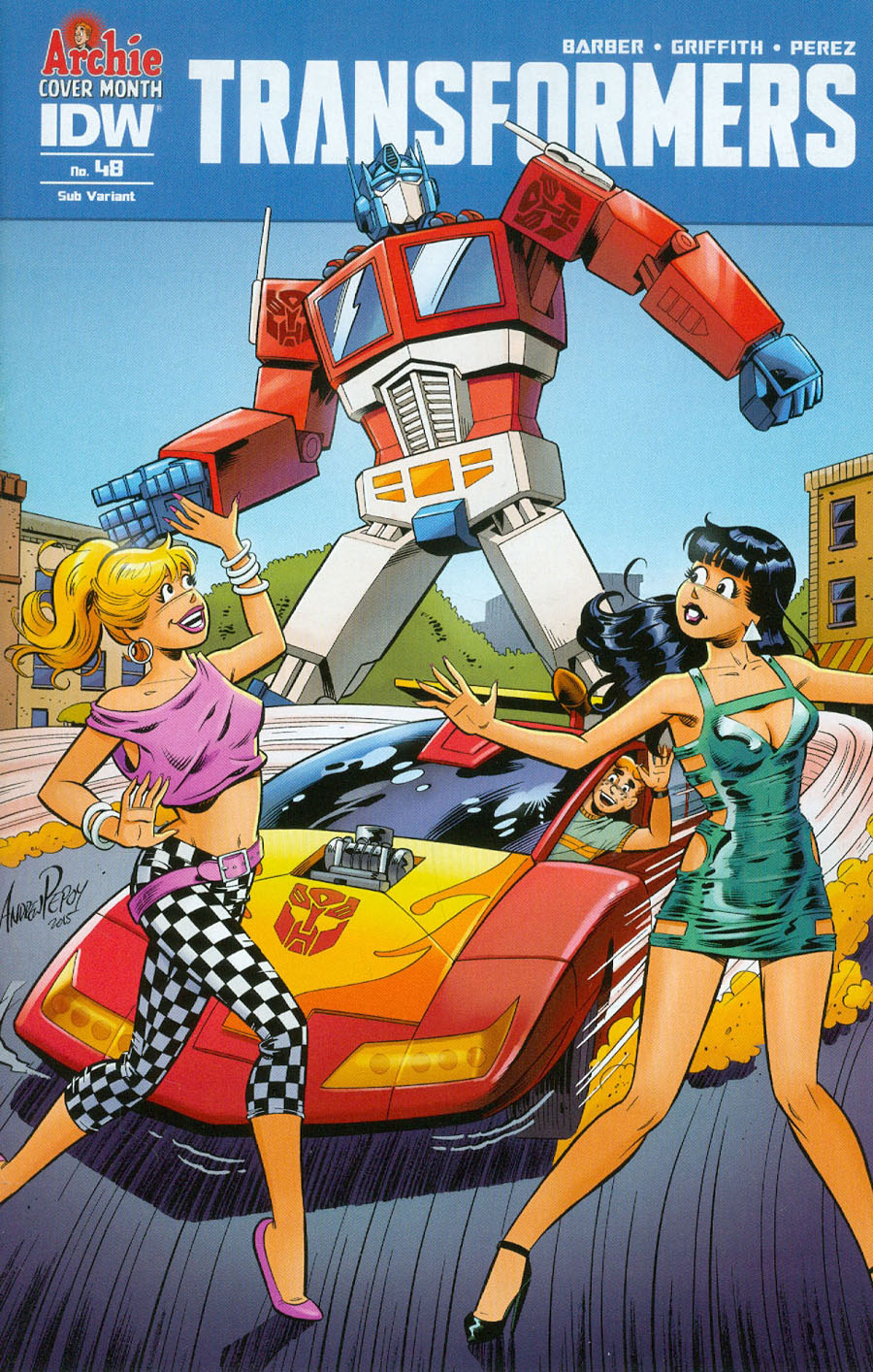 Transformers Vol 3 #48 Cover B Variant Andrew Pepoy Archie 75th Anniversary Subscription Cover
