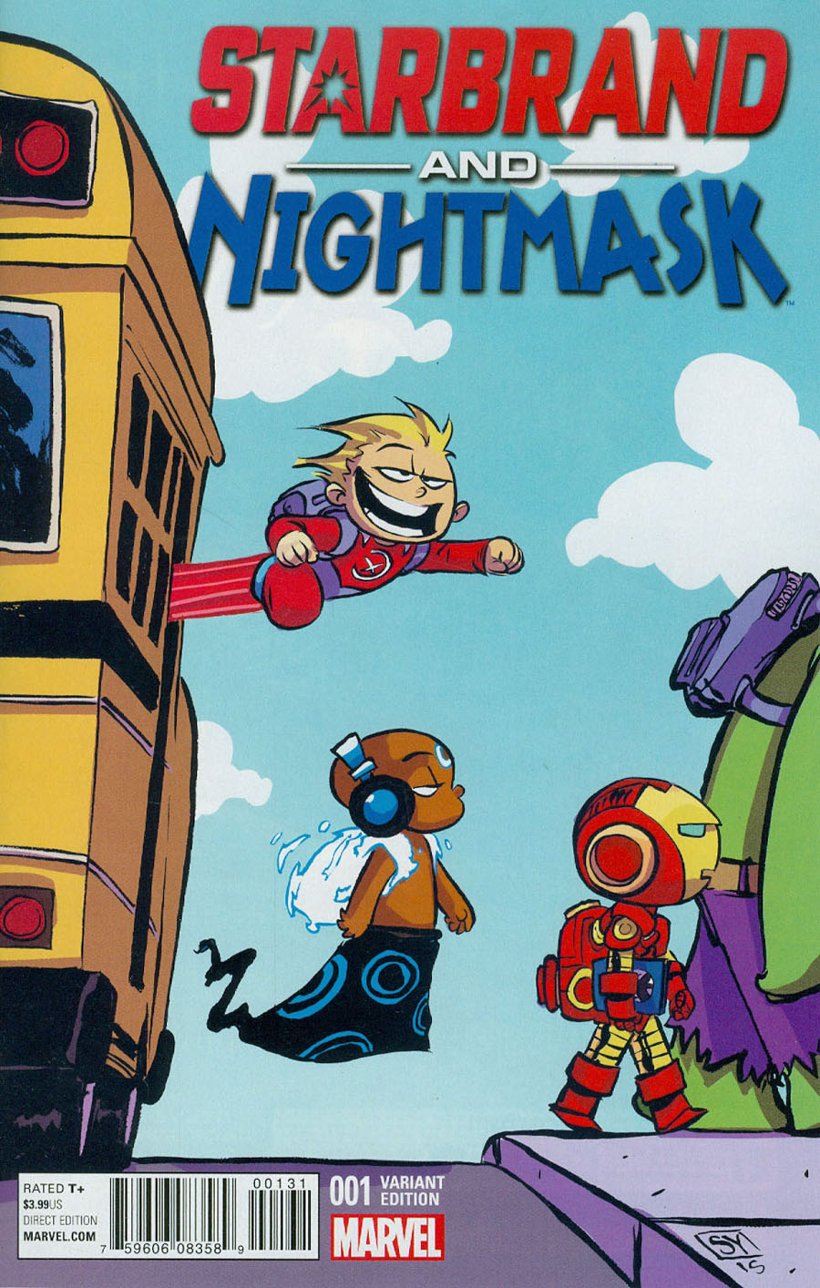 Starbrand And Nightmask #1 Cover C Variant Skottie Young Baby Cover