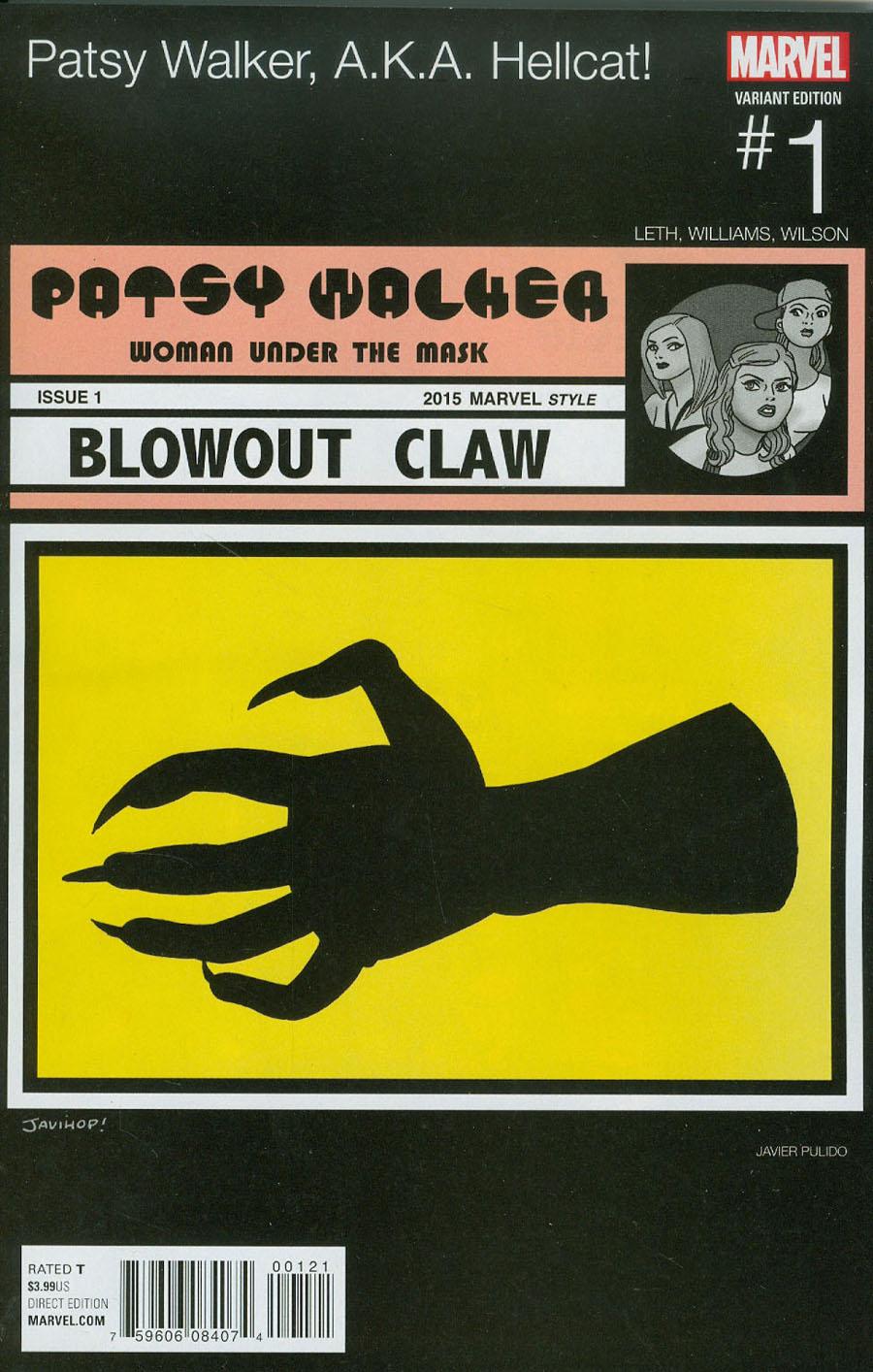 Patsy Walker AKA Hellcat #1 Cover B Variant Javier Pulido Marvel Hip-Hop Cover