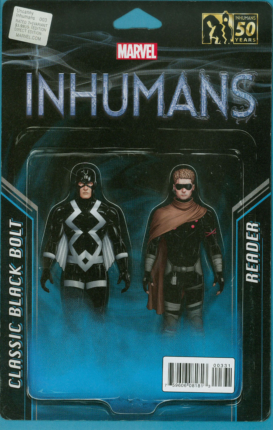 Uncanny Inhumans #3 Cover B Variant John Tyler Christopher Action Figure Two-Pack Cover