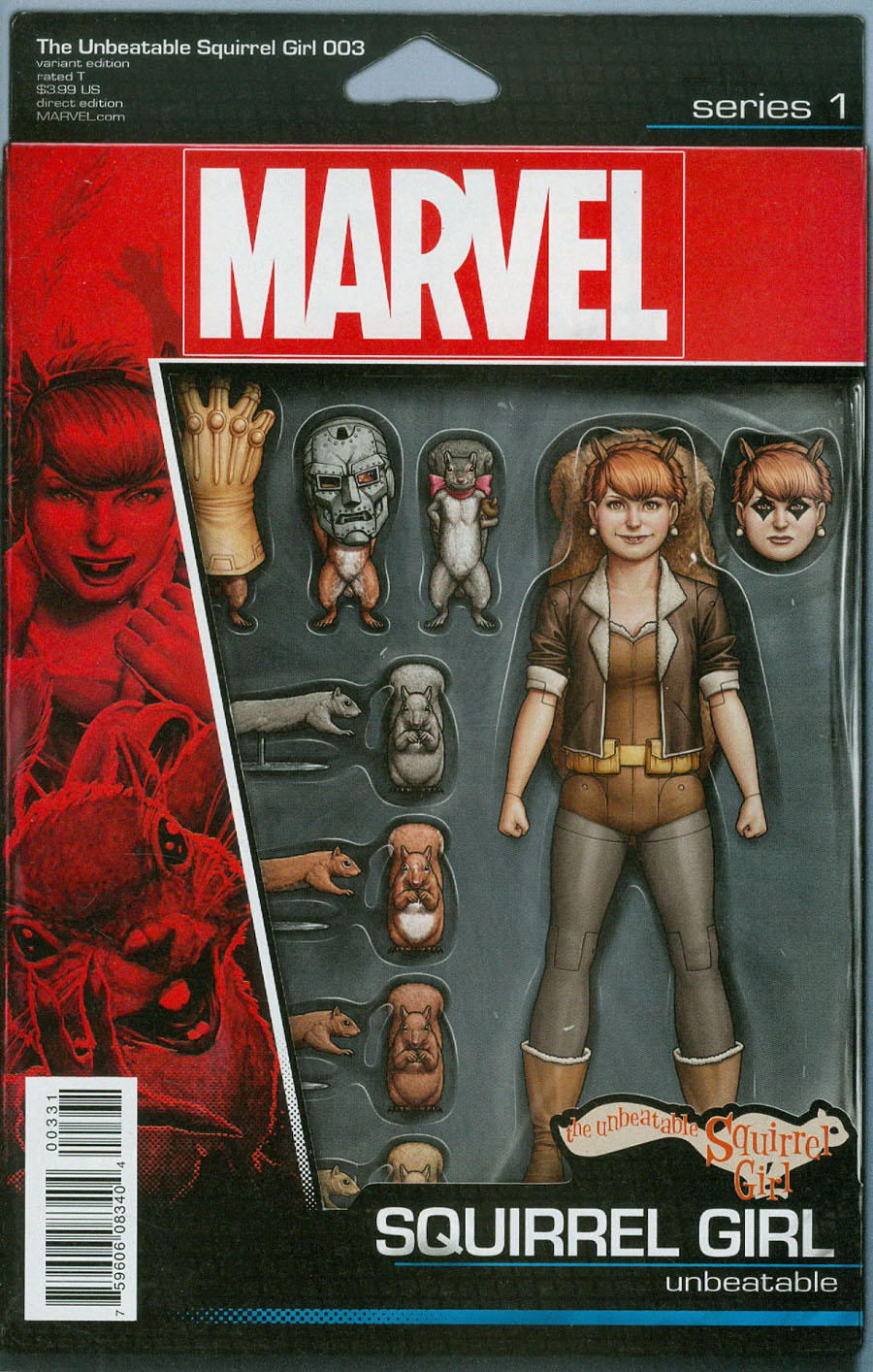 Unbeatable Squirrel Girl Vol 2 #3 Cover B Variant John Tyler Christopher Action Figure Cover