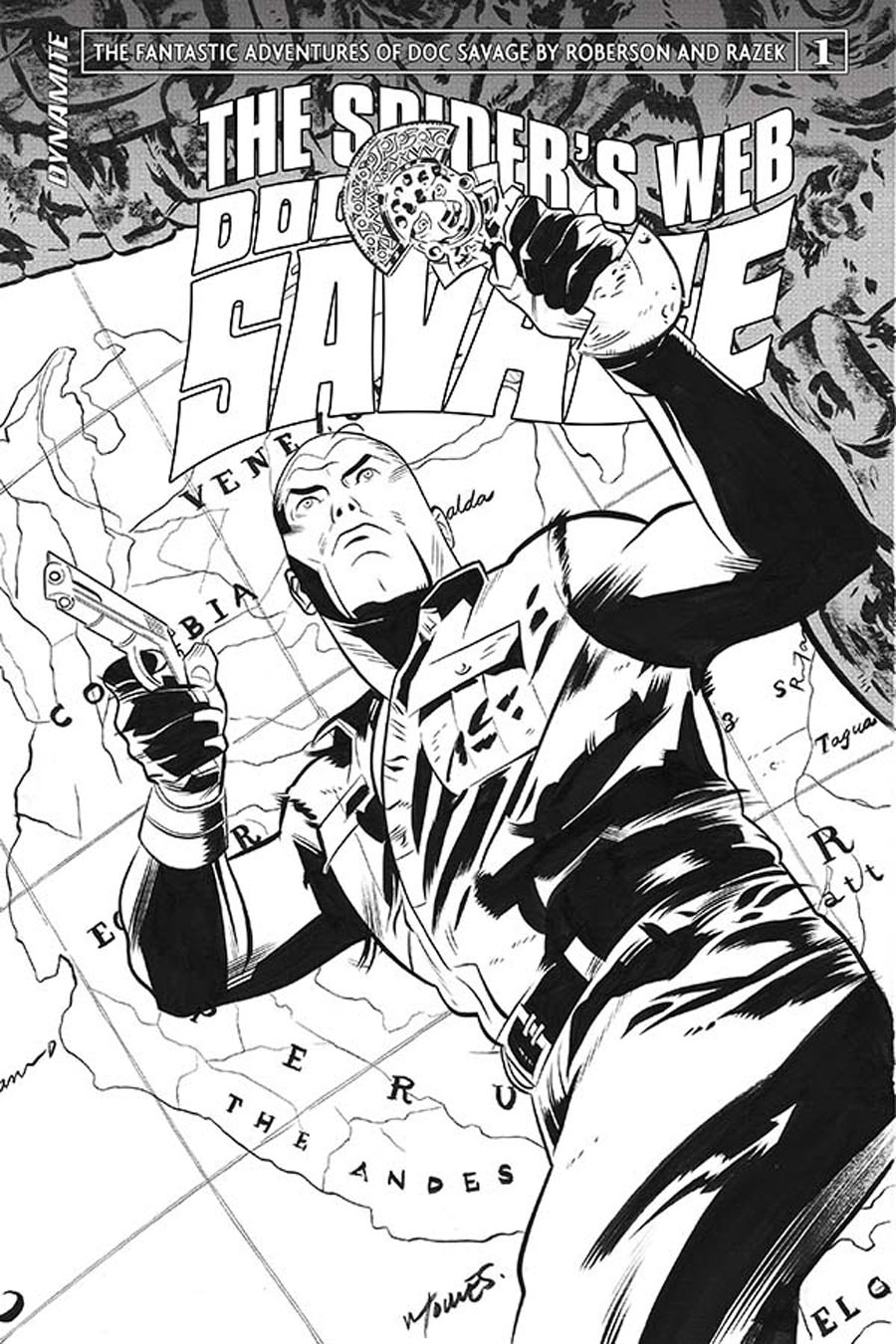 Doc Savage Spiders Web #1 Cover D Incentive Wilfredo Torres Black & White Cover