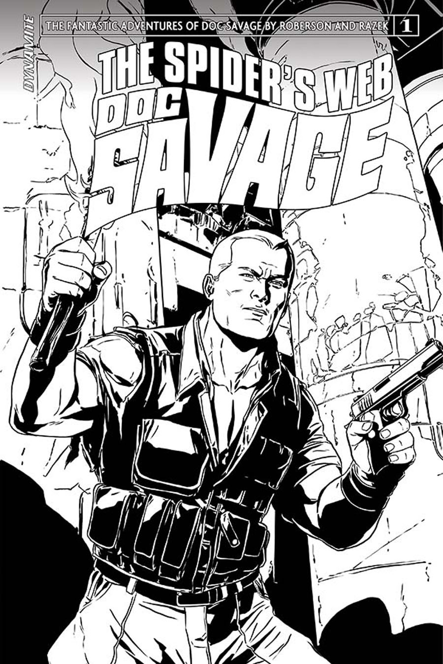 Doc Savage Spiders Web #1 Cover E Incentive Marc Laming Black & White Cover