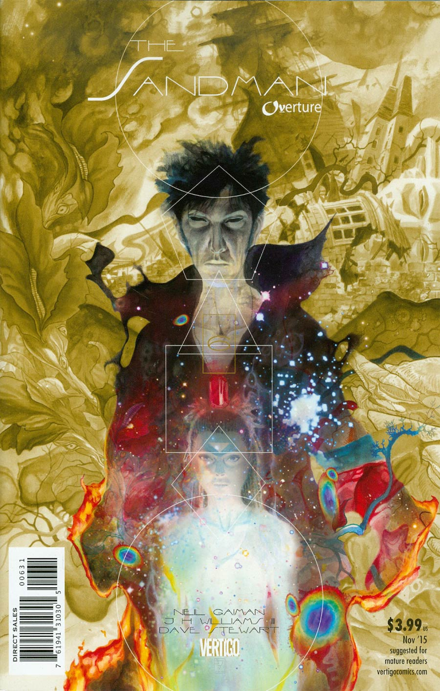 Sandman Overture #6 Cover E Incentive JH Williams III Special Ink Cover