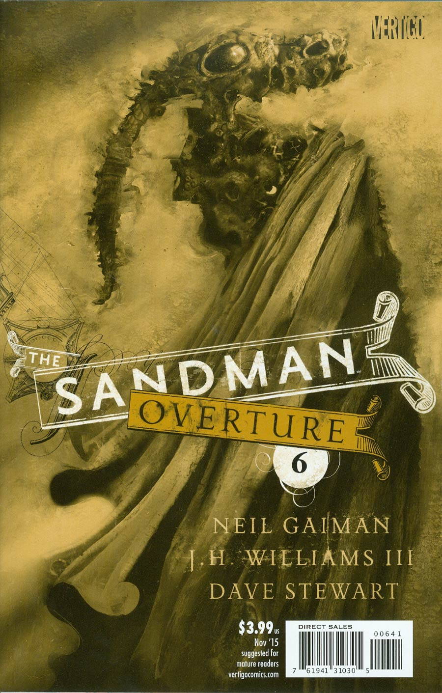 Sandman Overture #6 Cover F Incentive Dave McKean Special Ink Cover