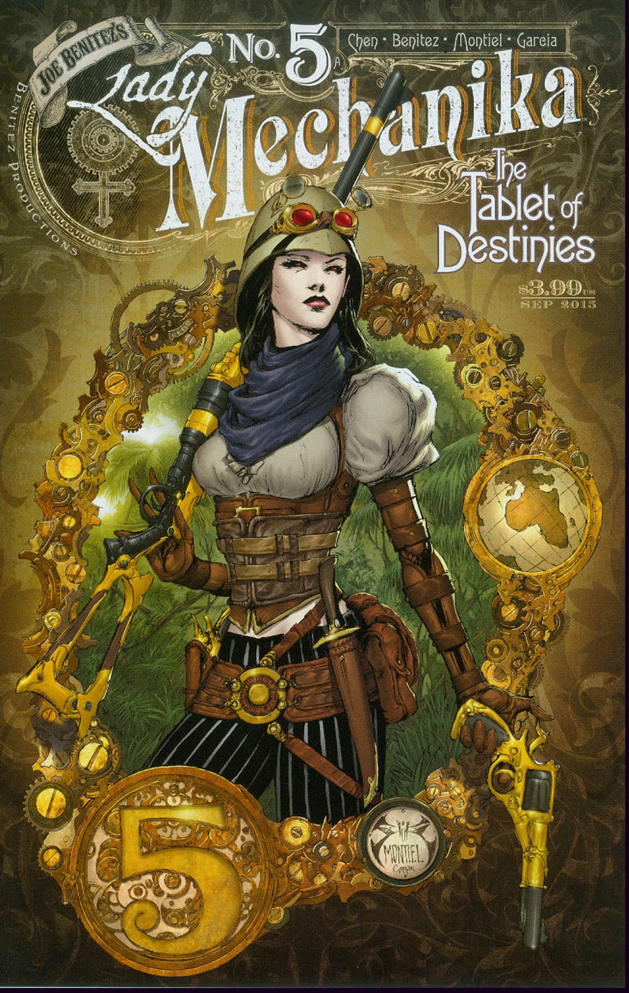 Lady Mechanika Tablet Of Destinies #5 Cover A Regular Joe Benitez Martin Montiel And Mike Garcia Cover