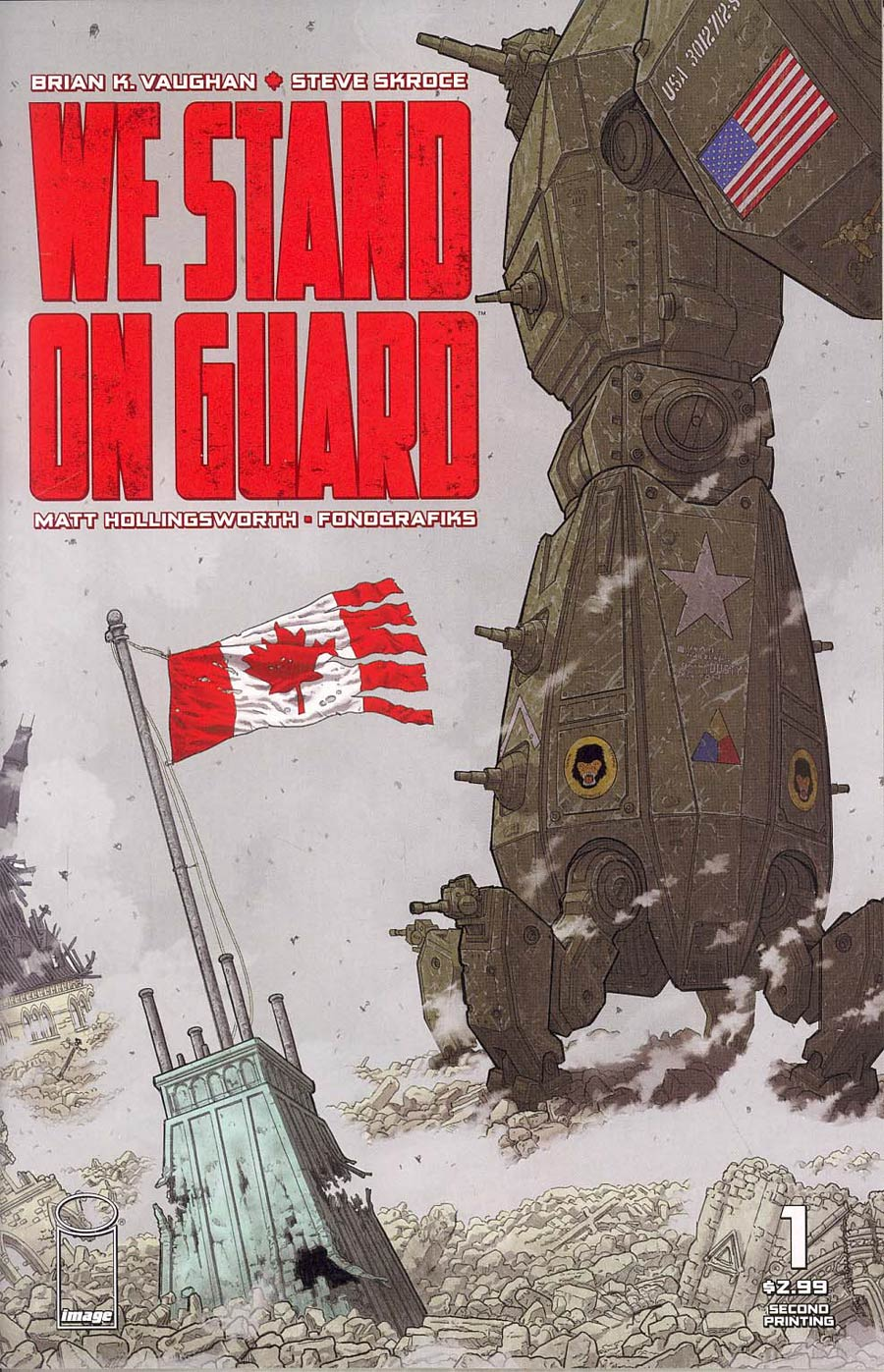 We Stand On Guard #1 Cover B 2nd Ptg Steve Skroce Variant Cover