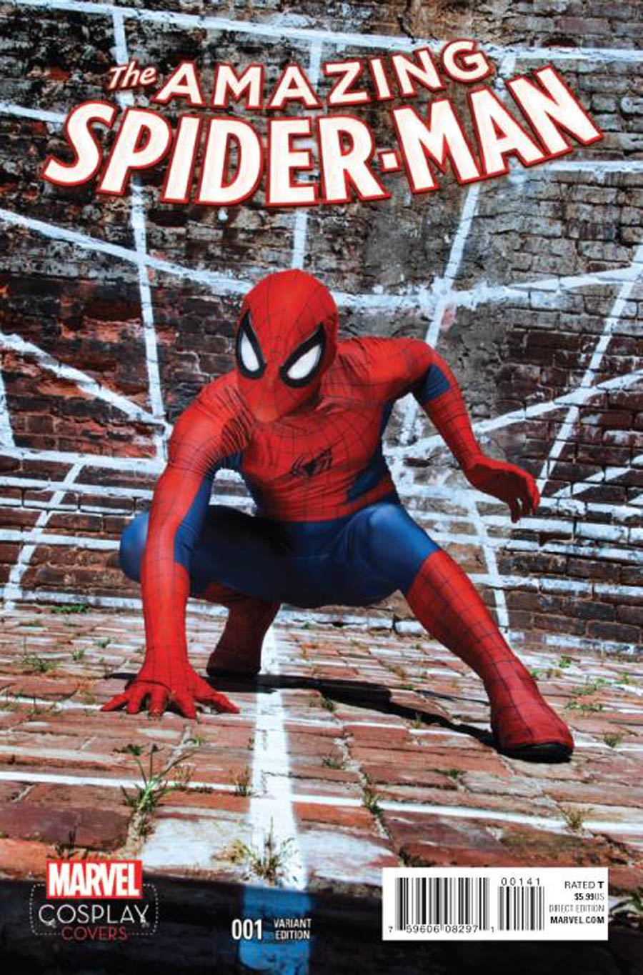 Amazing Spider-Man Vol 4 #1 Cover F Incentive Cosplay Variant Cover