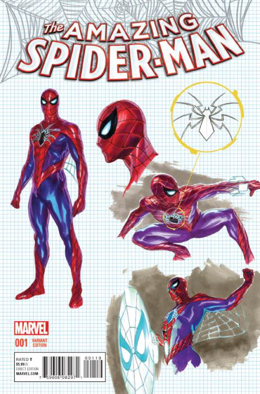 Amazing Spider-Man Vol 4 #1 Cover G Incentive Alex Ross Design Variant Cover