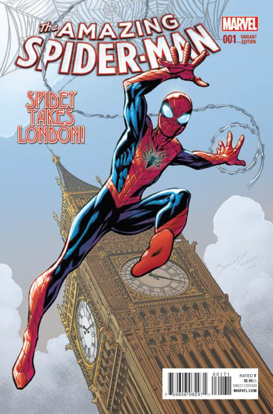 Amazing Spider-Man Vol 4 #1 Cover H Incentive Mark Bagley Variant Cover
