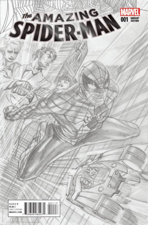 Amazing Spider-Man Vol 4 #1 Cover M Incentive Alex Ross Sketch Cover