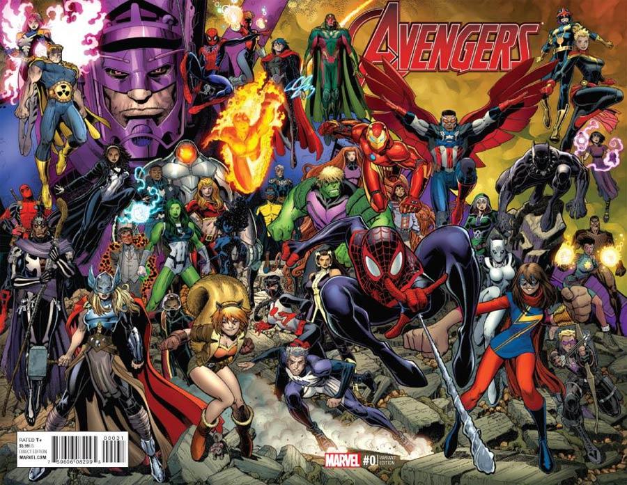 Avengers Vol 6 #0 Cover D Incentive Arthur Adams Wraparound Variant Cover