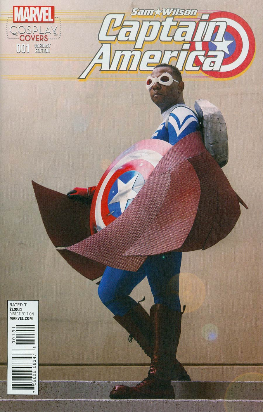 Captain America Sam Wilson #1 Cover C Incentive Cosplay Variant Cover