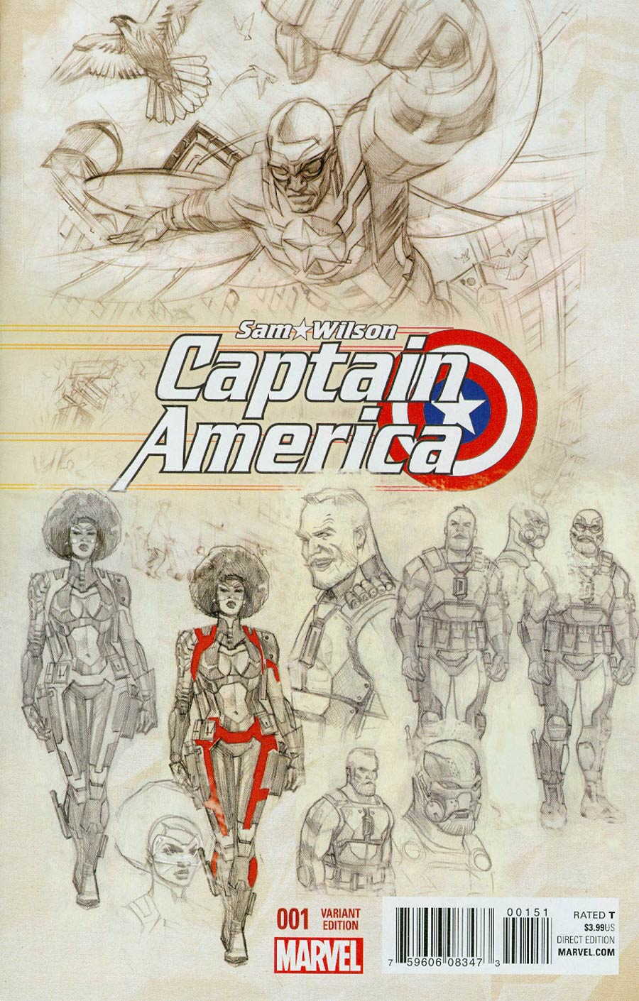Captain America Sam Wilson #1 Cover D Incentive Daniel Acuna Variant Cover
