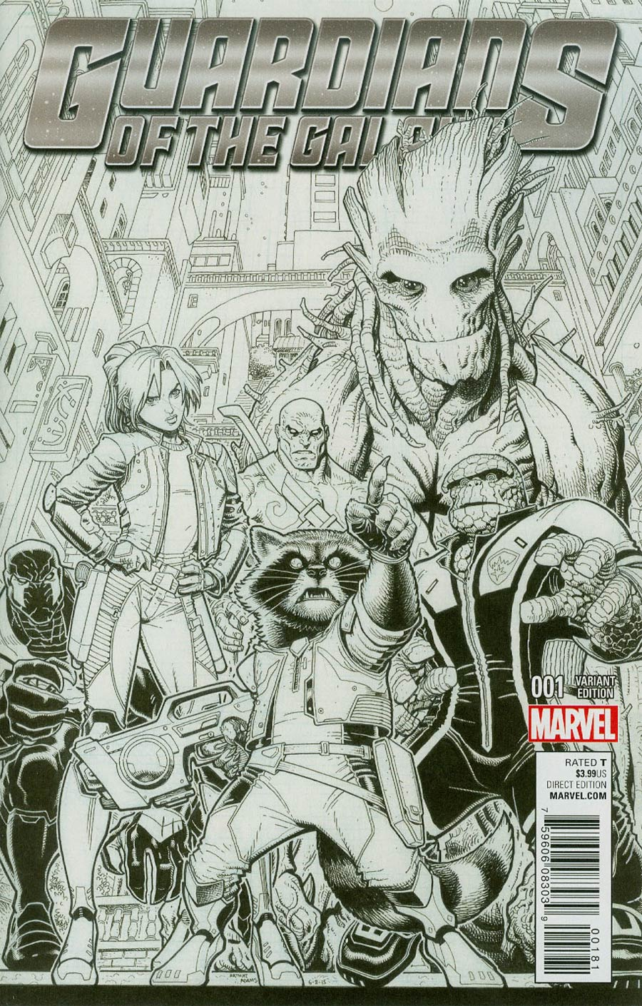 Guardians Of The Galaxy Vol 4 #1 Cover J Incentive Arthur Adams Sketch Variant Cover